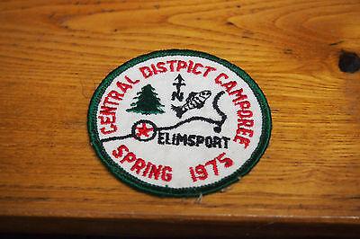 Vintage 70's Boy Scout Patch – BSA – Central Distpict Camporee – Elimsport