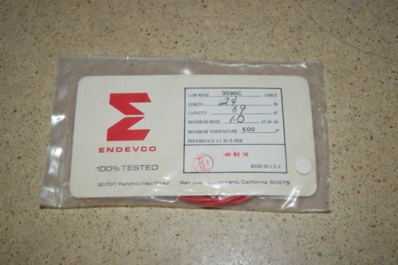 """ENDEVCO 3090C- 24"""" - 69pF- - 500?F ACCELEROMETER CABLE- NEW (#15)"""