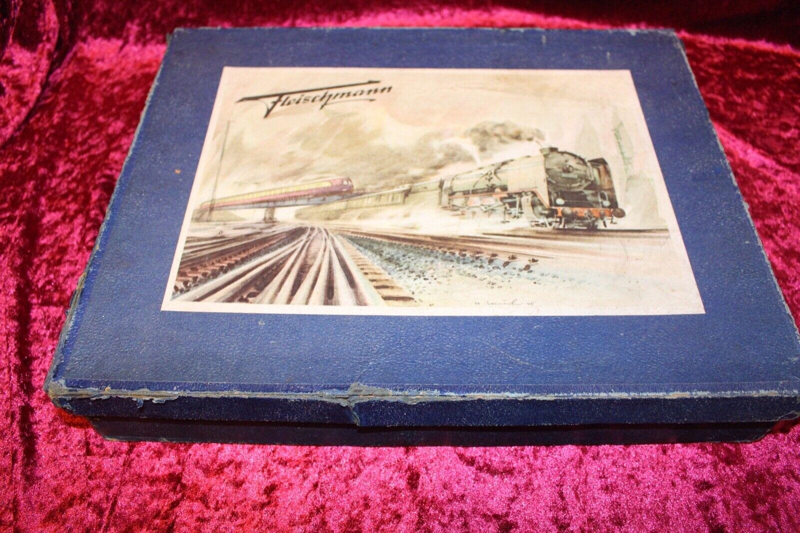 altes Blechspielzeug Eisenbahn spur 0 Fleischmann Rarität
