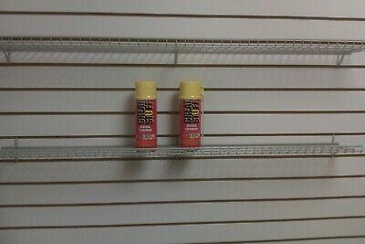 Wire Slatwallgridwall Shelf 48 X 6 Gray Color