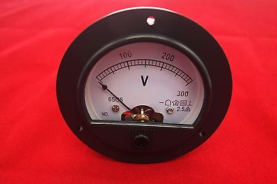 Dc 0-300v Analog Voltmeter Voltage Panel Meter Dia. 90mm Direct Connect