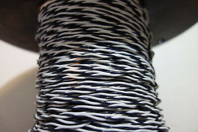 25 Feet 20 Awg Twisted Pair Blackwhite Stranded Silver Plated Copperteflon Wire