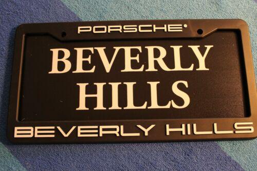 Porsche Beverly Hills Dealership License Plate Frame with insert. Plastic. New.