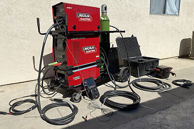 Lincoln Electric Power Wave S350 Mig Welder Set And Tank
