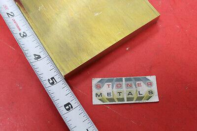 12 X 4 C360 Brass Flat Bar 5 Long Solid Plate Mill Stock H02 .50x 4
