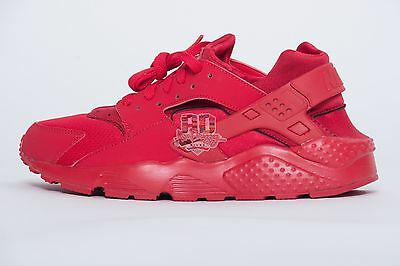 Nike Air Huarache Triple Red GS 654275-600 running run Grade School youth 4Y-7Y