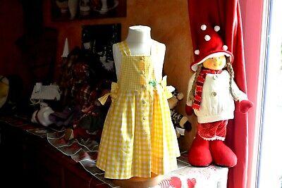Robe baby dior 6 mois jaune carreaux epis de ble  veste aussi en vente