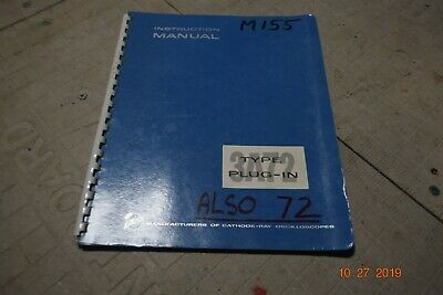 Vintage Tektronix Type 3a72 Plug-in Instruction Manual
