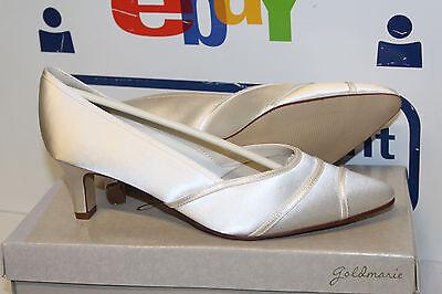 Gold Satin Schuhe (GOLDMARIE LUNA BRAUTSCHUHE HOCHZEITSSCHUHE ABENDSCHUHE SATIN Gr 40 Neu)