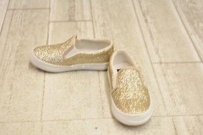 **Polo Ralph Lauren Kids Benton II Slip On - Toddler Girl's Size 6.5 - Gold (Polo Ralph Lauren Kids Benton Ii Slip On)