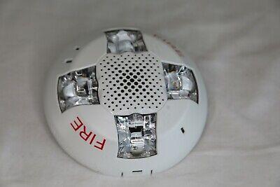 Edwards Gcvwf White Ceiling Strobe And Speaker Fire Alarm