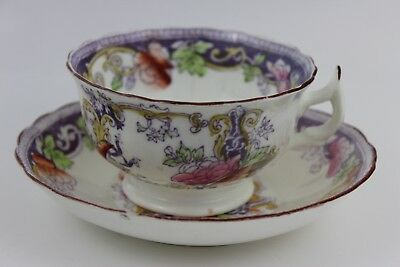 Stunning Hand Painted Tea Cup & Saucer  c1800's Ra No 153228