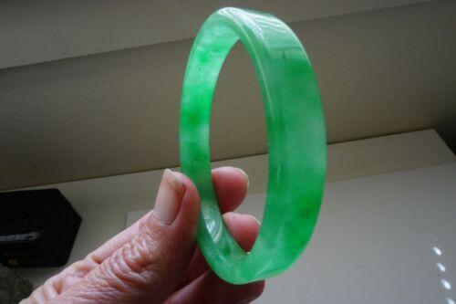 Chinese Child Genuine A Natural Ice Green Jadeite Jade Bangle Bracelet