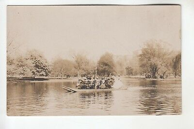 - Real Photo Postcard Swan Boat Ride Boston Public Garden Boston MA