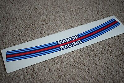 Vespa Martini Racing Stripes Vinyl Stickers x3 Motorsport Bike Scooter Graphics