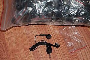 BULK Lot of 25 BLACK 3.5mm Headphones / Earbuds / Earphones - Great for Schools!