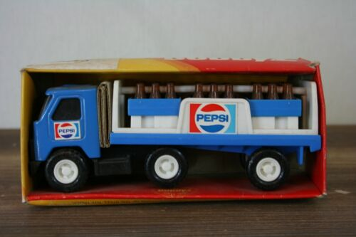 "Vtg 1980 Buddy L 6"" PEPSI Cola Delivery Truck Trailer #P-4889 Complete Hong Kong"