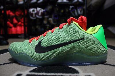 93455433122a NEW Nike Kobe XI Elite Low Flyknit iD Grinch Neon Green Sz 11