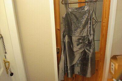 ladies grey dress steampunk/gothic size 20