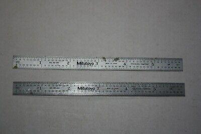 Mitutoyo 182-203 Steel Rule 6 X 12 5r 132 164 110 1100