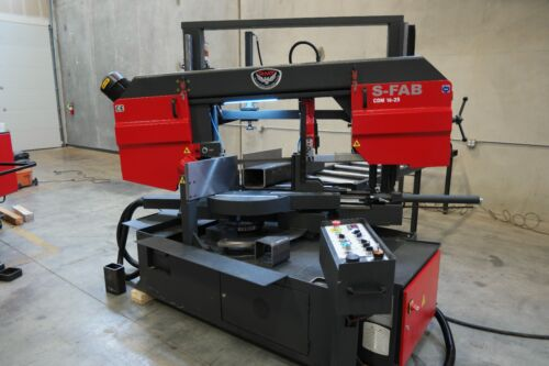 """NEW RMT S-FAB CDM 18""""x25"""" Semiautomatic Column Type Double Miter Bandsaw"""