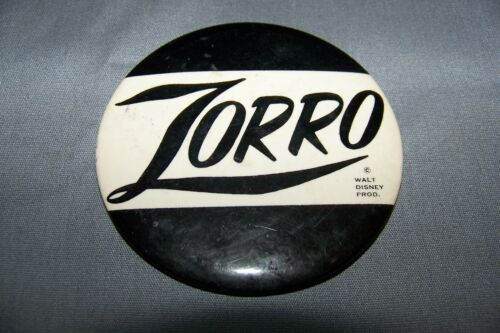 Vintage Zorro Pin / Button