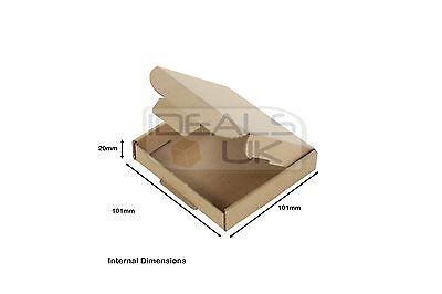 100x MINI PiP LARGE LETTER POSTAL BOX MAILING PARCEL PACKING JEWELLERY 10x10x2cm