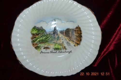 United Kingdom Scotland Edinburgh Princes Street Souvenir Trinket Dish Stanley