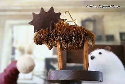 CRATE & BARREL BURI MOOSE ORNAMENT -NWT- BRING A TOUCH OF WHIMSY TO YOUR TREE! ()