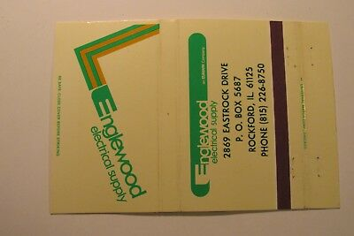 WB124 Matchbook Cover Wide 40 Englewood Electrical Supply Rockford IL Illinois