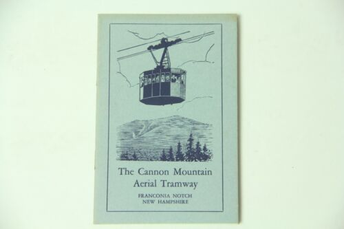 1953 The Cannon Mountain Aerial Tramway Booklet Vintage Travel Tourism Skiing