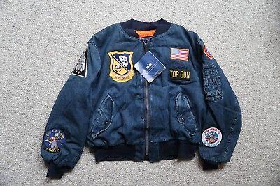 Alpha Industries USA Made 2XL MA-1 Navy Deck Jacket Top Gun