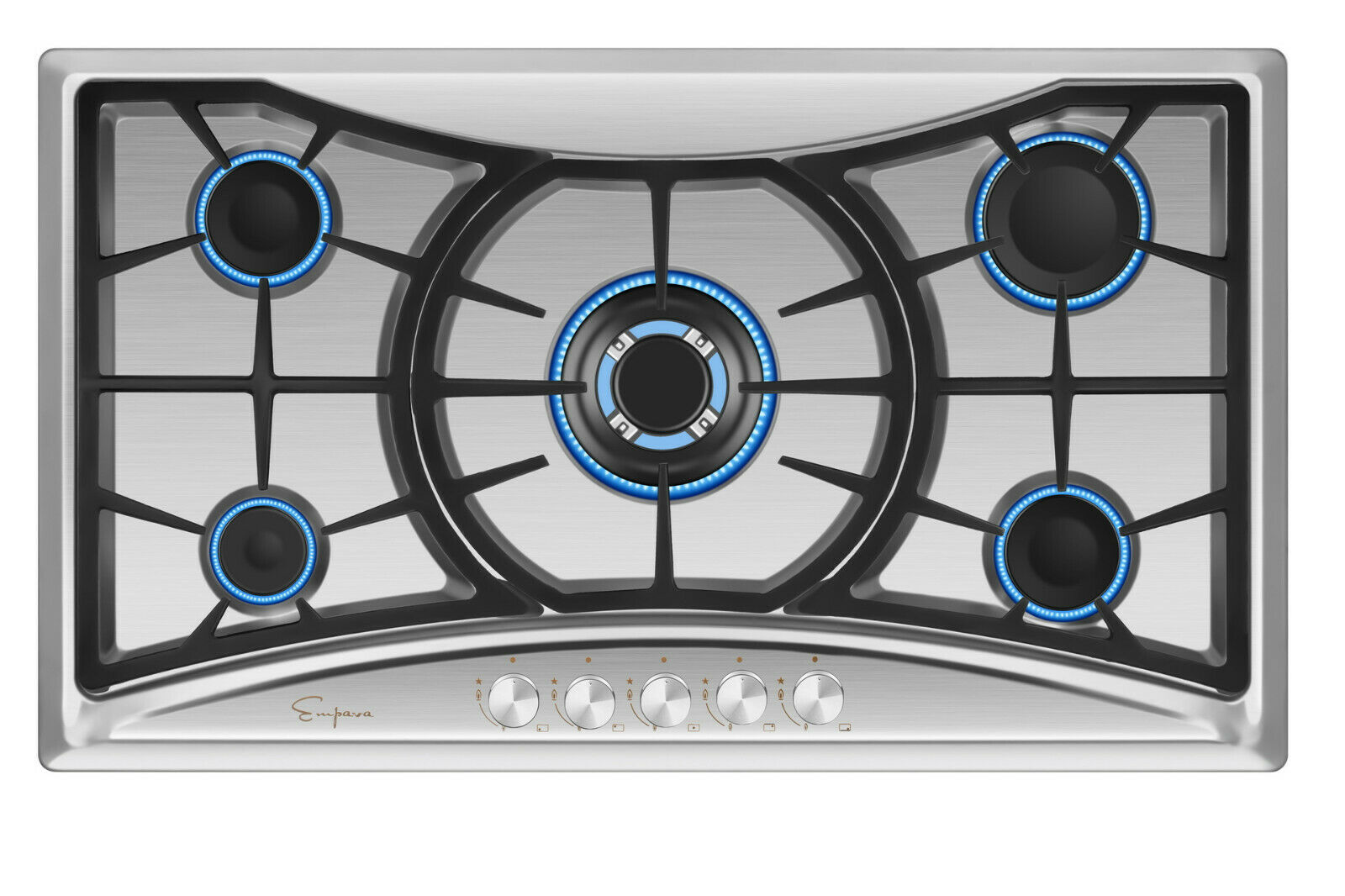 "Empava 36"" Gas Cooktop 5 Burners Built-in Stove Tops Stainle"