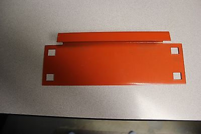 30 Pcs. Of Pallet Rack 8 Row Spacers - Orange Color - Brand New Condition