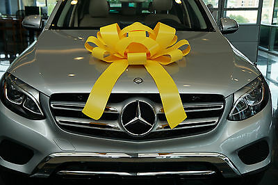 Yellow Car Bow With Magnetic Base Extra Large Bow Gift Bow, Bows For Cars BIG - Big Bows For Cars