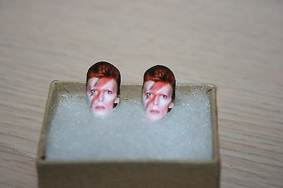 David Bowie Ziggy Stardust Stud Earrings Jewelry