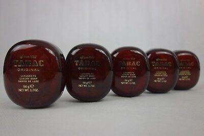 TABAC Original Luxusseife, Luxury Soap, Savon De Luxe 5 x 50 g / 250 g Geschenk