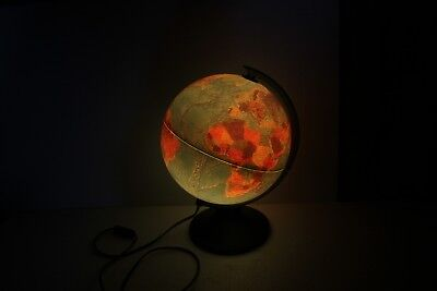 Light Up World Globe Geographical Geography Terrain. Lights up Showing Countries