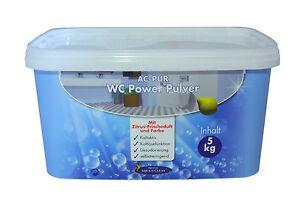 AQUA CLEAN PUR WC Power Pulver 5 kg !!! Neu mit Zitrus-Frischeduft und Farbe !!!