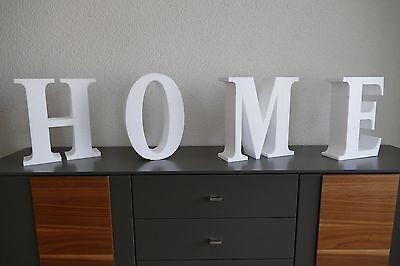 3D  Wandtattoo Buchstaben HOME Styropor 120cm lang 35cm hoch 10cm dick Deko ()