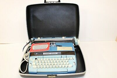 Smith Corona Coronet Electric 12 Typewriter With Case - Tested And Working