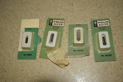 Welch Allyn No 00200 00400 00600 And 2 Vacuum Lamp Bulbs -newoem 4 Total