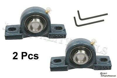 2pc 58 Pillow Block Bearing W Housing Solid Cast Iron Base With Hex Key