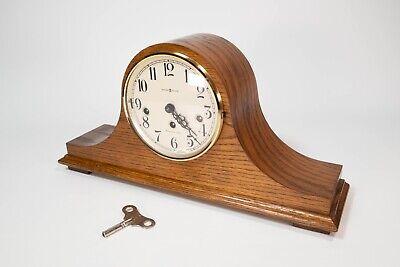 Vintage HOWARD MILLER Model 612-618 Two Jewel Mantle Clock 340-020 West Germany