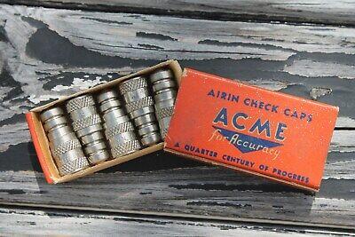 Vintage nos Tire valve metal caps auto accessory gm street hot rod parts Antique