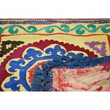 Old Hand Made Embroidered Pure Silk Antique Suzani Vintage Floral Embroidery 208