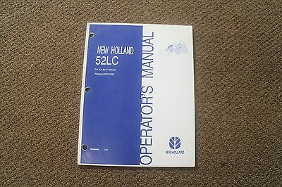 Operators Manual For New Holland 52lc Loaders On Tla Series Tractors. 87049995