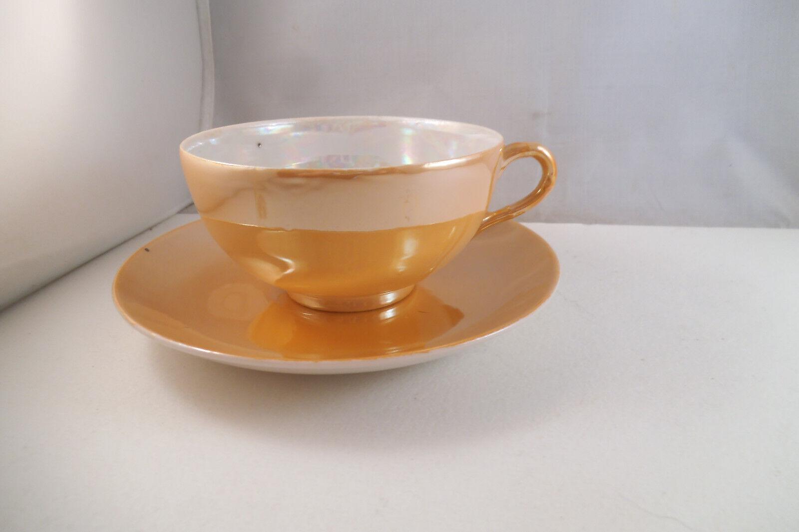 vintage made in japan orange lustre set of 12 cups 12. Black Bedroom Furniture Sets. Home Design Ideas