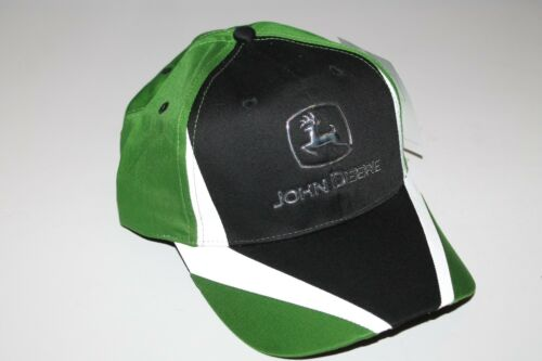 "JOHN DEERE CINCINNATI CHROME LOGO REFLECTIVE STRIPE CAP HAT ""Gateway to Growth"""
