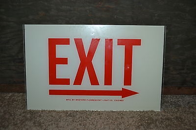 Never Used Western Lighting Exit Sign Replacement Glass 12 X 7 12
